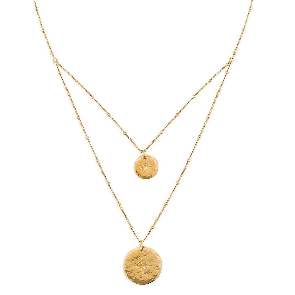 ombre gold necklace