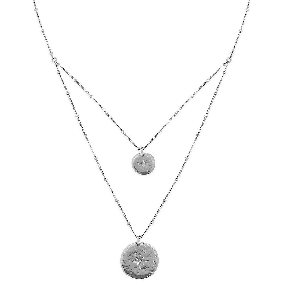 ombre silver necklace