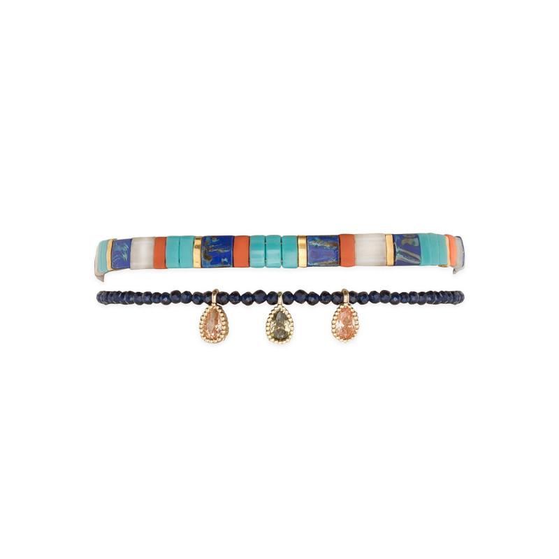 bracelet fin vaiana blue
